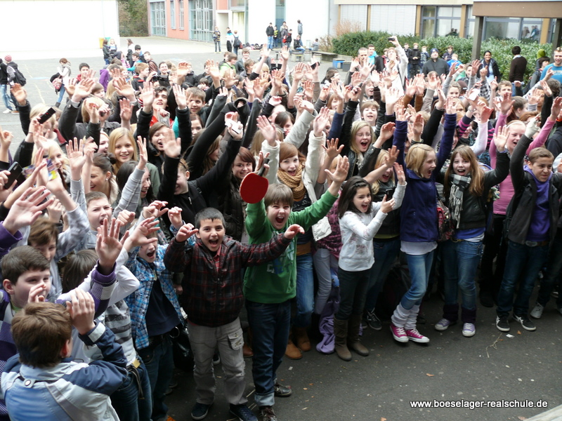 Fabian Buch begeisterte vor allem die jüngeren Schüler